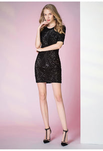 Knee Length Cocktail Dresses Glamorous Sequins - 3