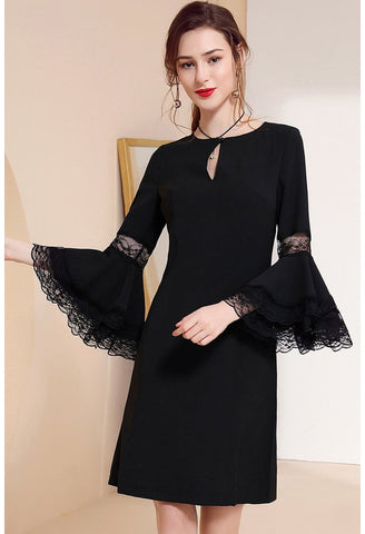 Image of Little Black Dresses Trumpet Sleeves - 6