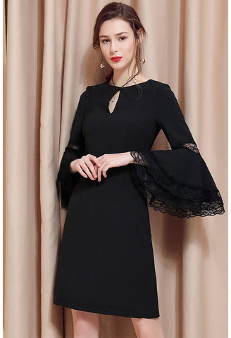 Image of Little Black Dresses Trumpet Sleeves - 1