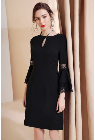 Image of Little Black Dresses Trumpet Sleeves - 2