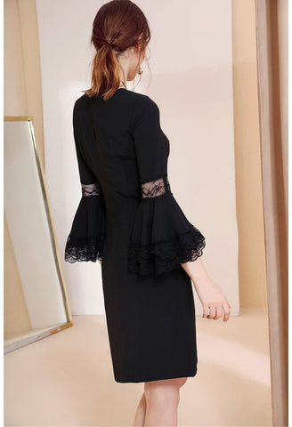 Image of Little Black Dresses Trumpet Sleeves - 4