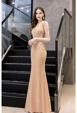 Image of Mermaid Formal Dresses Luxury Rhinestones V-Neck - 2