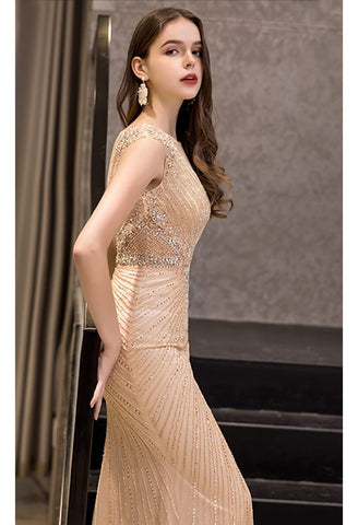Image of Mermaid Formal Dresses Luxury Rhinestones V-Neck - 5