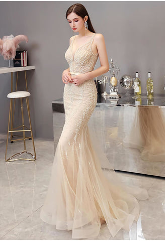 Image of Mermaid Pageant Dresses Brilliant Beading - 2