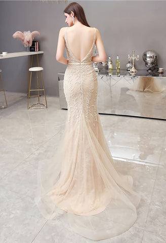 Image of Mermaid Pageant Dresses Brilliant Beading - 3