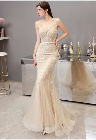 Image of Mermaid Pageant Dresses Brilliant Beading - 6