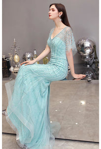 Mermaid Pageant Dresses Junoesque Rhinestones Embellished with Chic Sleeves - 5