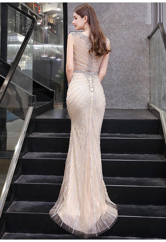 Image of Mermaid Pageant Dresses Luxury Rhinestones Beading - 3
