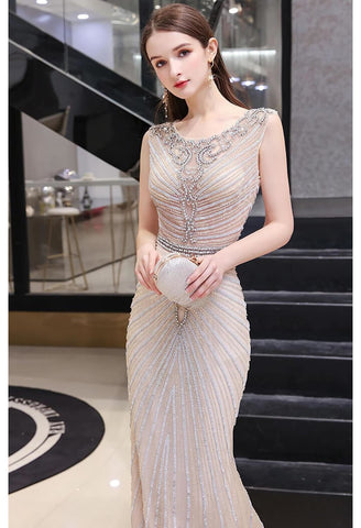 Image of Mermaid Pageant Dresses Luxury Rhinestones Beading - 4