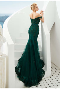 Mermaid Pageant Dresses Off-Shoulder - 3