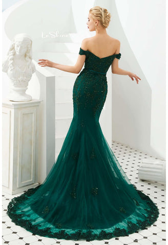 Image of Mermaid Pageant Dresses Off-Shoulder - 2