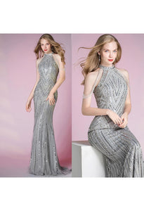 Mermaid Pageant Dresses Shimmering Beaded Halter - 7