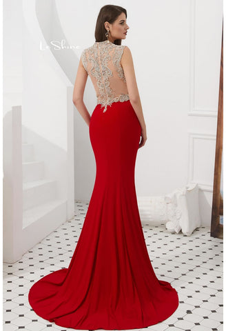 Image of Mermaid Pageant Dresses with Gorgeous Back - 2