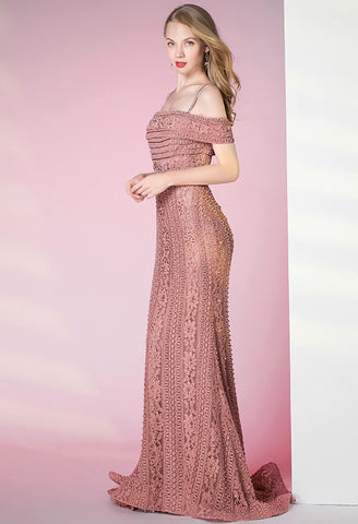 Image of Mermaid Prom Dresses Glamorous Beaded Off Shoulder - 5