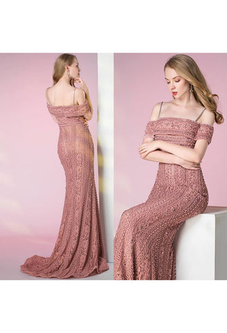 Image of Mermaid Prom Dresses Glamorous Beaded Off Shoulder - 7