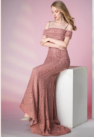 Image of Mermaid Prom Dresses Glamorous Beaded Off Shoulder - 1