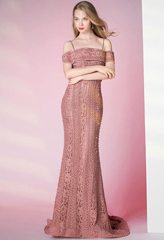 Image of Mermaid Prom Dresses Glamorous Beaded Off Shoulder - 4