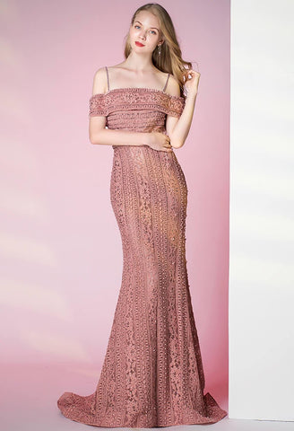 Image of Mermaid Prom Dresses Glamorous Beaded Off Shoulder - 2
