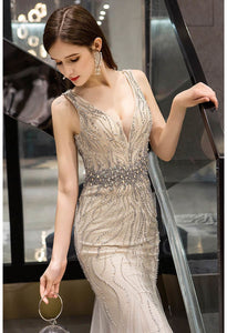 Mermaid Prom Dresses Gorgeous Rhinestones Embellished with Tulle - 3