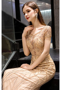 Mermaid Prom Dresses Stunning Rhinestones Embellished Scoop Neckline - 3