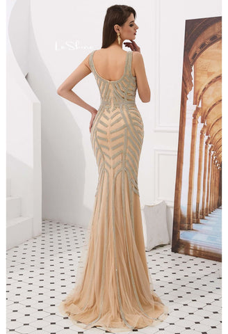 Image of Mermaid Prom Dresses Stunning Rhinestones V-Neck - 4