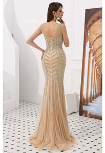 Mermaid Prom Dresses Stunning Rhinestones V-Neck - 4