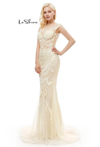 Image of Mermaid Prom Dresses Stunning Sequins with Embroidery Tulle-1 - 11