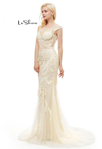 Image of Mermaid Prom Dresses Stunning Sequins with Embroidery Tulle-1 - 9