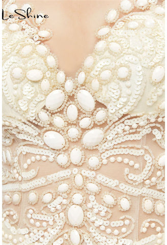 Image of Mermaid Prom Dresses Stunning Sequins with Embroidery Tulle-1 - 12