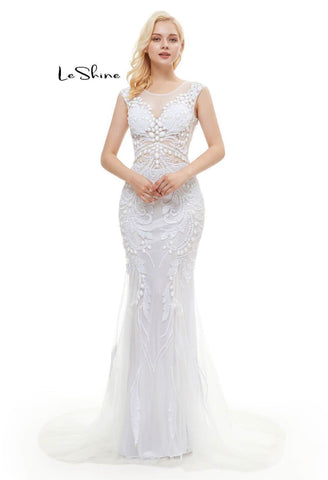 Image of Mermaid Prom Dresses Stunning Sequins with Embroidery Tulle-1 - 5