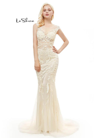 Image of Mermaid Prom Dresses Stunning Sequins with Embroidery Tulle-1 - 10