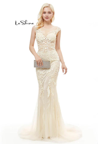 Image of Mermaid Prom Dresses Stunning Sequins with Embroidery Tulle-1 - 7