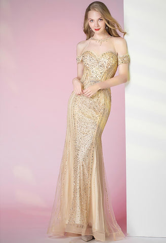 Image of Mermaid Prom Dresses Sweetheart Sheer Neckline - 5
