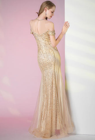 Image of Mermaid Prom Dresses Sweetheart Sheer Neckline - 2