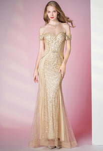 Mermaid Prom Dresses Sweetheart Sheer Neckline - 1