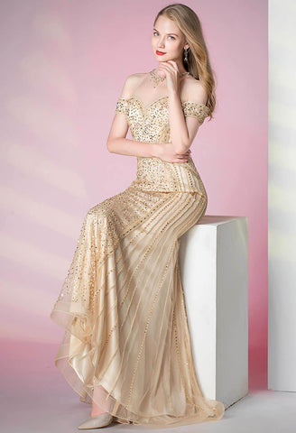 Image of Mermaid Prom Dresses Sweetheart Sheer Neckline - 4