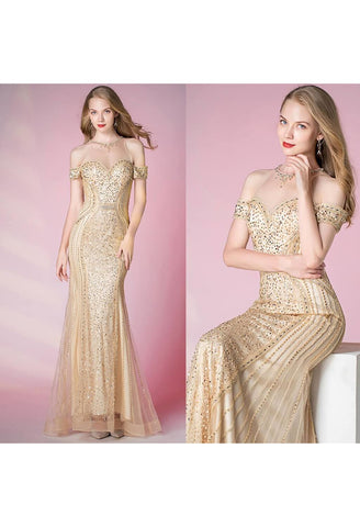 Image of Mermaid Prom Dresses Sweetheart Sheer Neckline - 7
