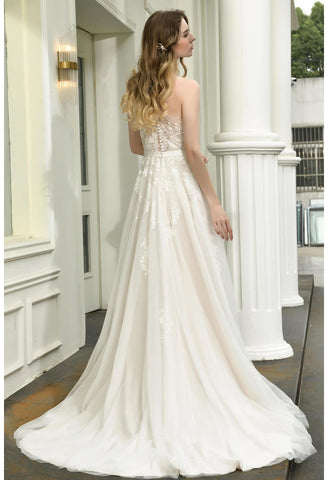 Image of Modern Bride Dresses Glamorous Embroidery Lace One Shoulder A-Line - 2