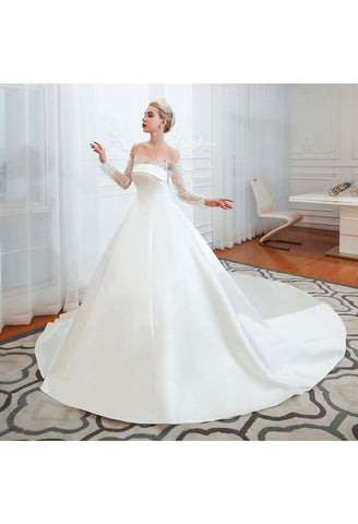 Image of Modern Bride Dresses Pure Simplicity Tailing - 3