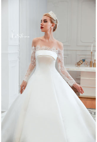 Image of Modern Bride Dresses Pure Simplicity Tailing - 6