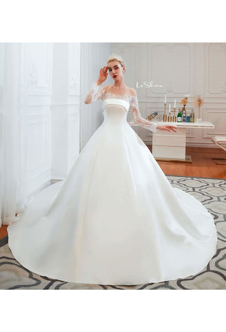 Image of Modern Bride Dresses Pure Simplicity Tailing - 5