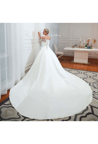 Image of Modern Bride Dresses Pure Simplicity Tailing - 4