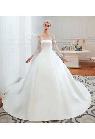 Image of Modern Bride Dresses Pure Simplicity Tailing - 1