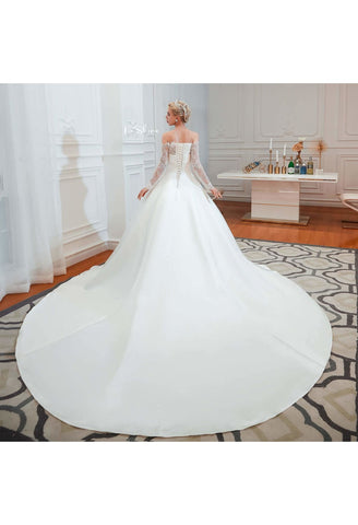 Image of Modern Bride Dresses Pure Simplicity Tailing - 2