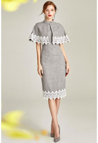 Image of Pencil Dresses with Shawl Junoesque Lace - 3