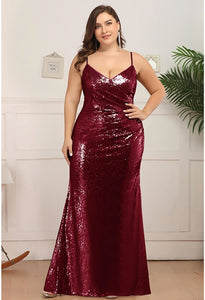 Plus Size Evening Dresses Sexy Sequin - 1