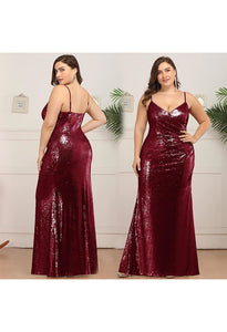 Plus Size Evening Dresses Sexy Sequin - 5
