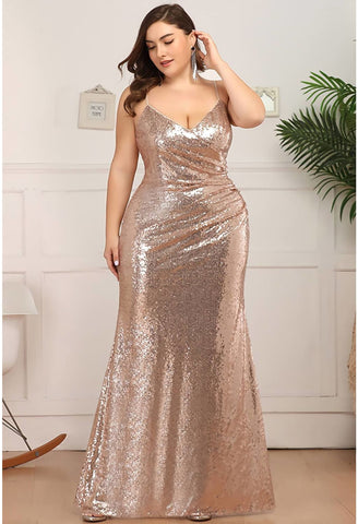 Image of Plus Size Evening Dresses Sexy Sequin - 8