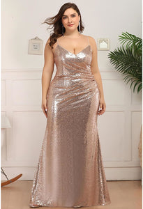 Plus Size Evening Dresses Sexy Sequin - 9