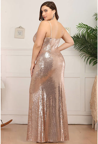 Image of Plus Size Evening Dresses Sexy Sequin - 7